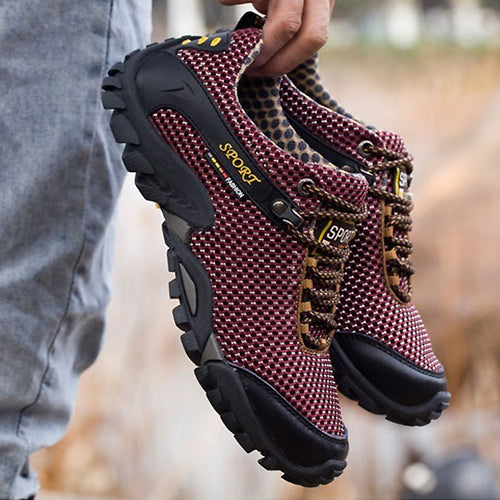 Mens Outdoor Sport Anti-skid Shoes Breathable Hiking Shoes Sneakers