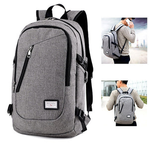 Anti-theft Laptop Bag With USB Charging Port Casual Business Backpack