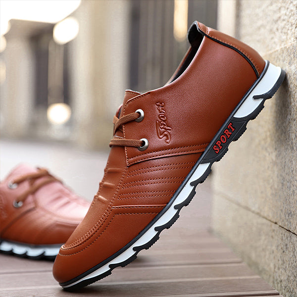 Mens Lace-up Round Toe Fashion Flat Shoes