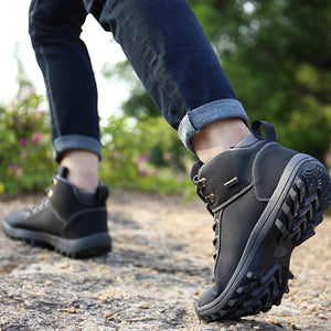 Men's Outdoor Trekking Hiking Waterproof Anti-skid Mountain Climbing Sports Winter Shoes