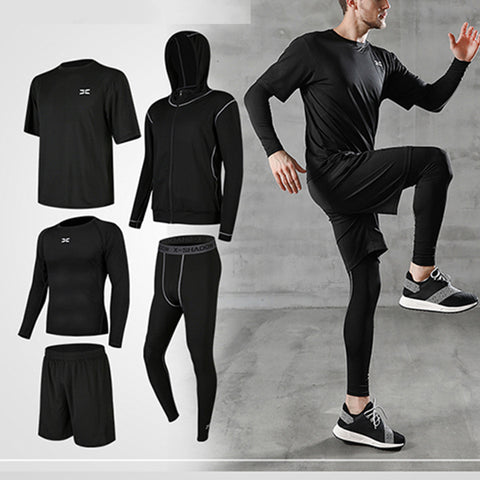 Mens Quick-Drying Fashion Summer Tight Sports Sets