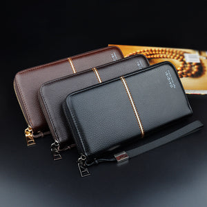 Men's Zipper Multifunctional Long Wallets