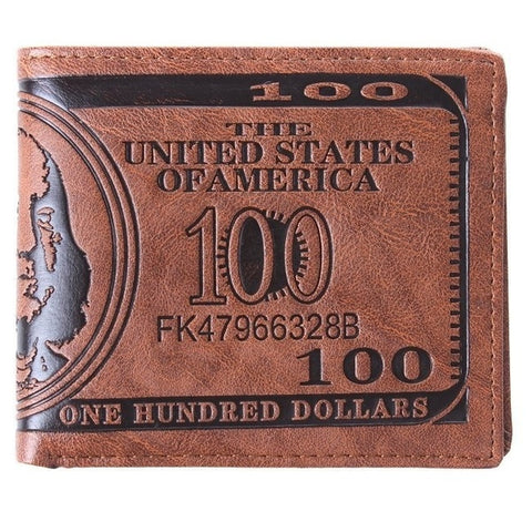 Men Vintage Money Clip Fashion Creative Short Wallet