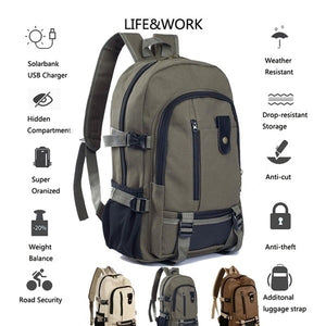 Men's  Fashion Casual Travel Large Capacity Backpack