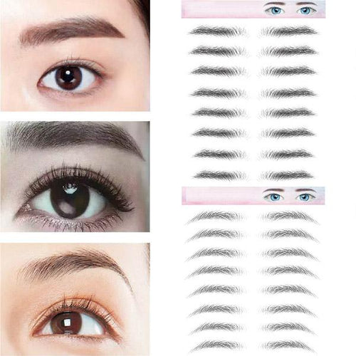 3D Eyebrow Bionic Tattoo Semi-Permanent Waterproof Embroidery Eyebrow Sticker