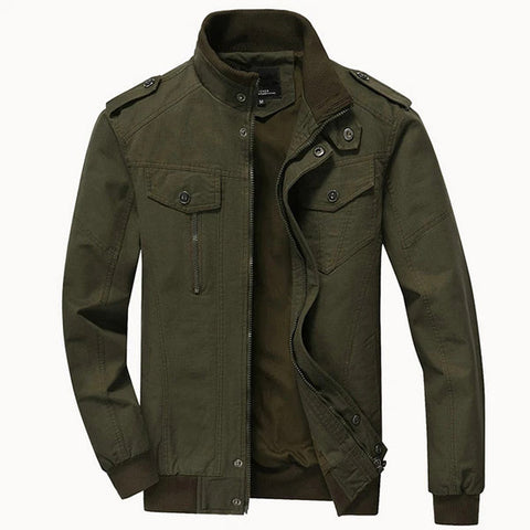 Men's Stand Collar Military Fashion Jackets