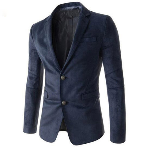 Men's Pocket Contrast Casual Blazer