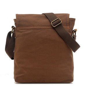 Mens Casual Canvas Shoulder Bag Fashion Crossbody Bag
