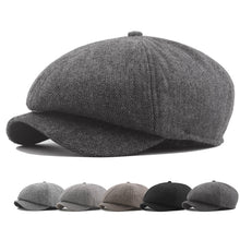 Load image into Gallery viewer, Men Women Fashion Solid Color Beret Hat Painter Newsboy Caps