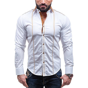 Men's Long Sleeve Featured Casual Shirts
