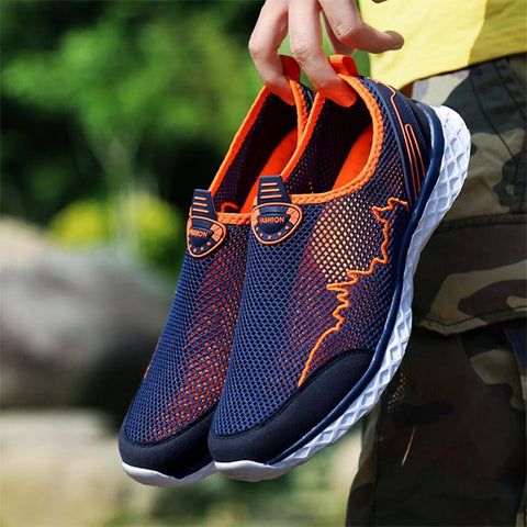 Mens Casual Breathable Mesh Lightweight Water Shoes Athletic Shoes