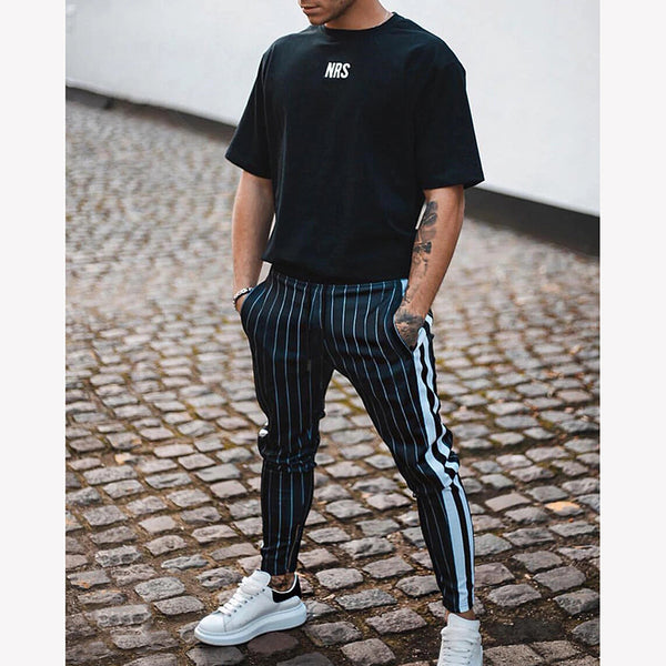 Fashion Striped Side Casual Pants