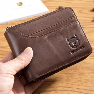 Zip Around Wallet Genuine Leather Card Holder Wallet