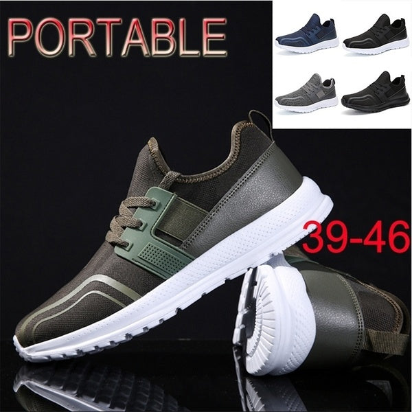 Men's Leisure Breathable Running Walking Portable Sports Sneakers