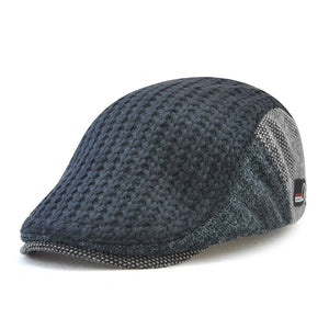 Mens Fashion Autumn Winter Knitted Newsboy Cabbie Hat Beret Cap