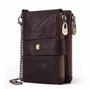 Mens Vintage RFID Protection Coin Bags Multifunctional Wallets