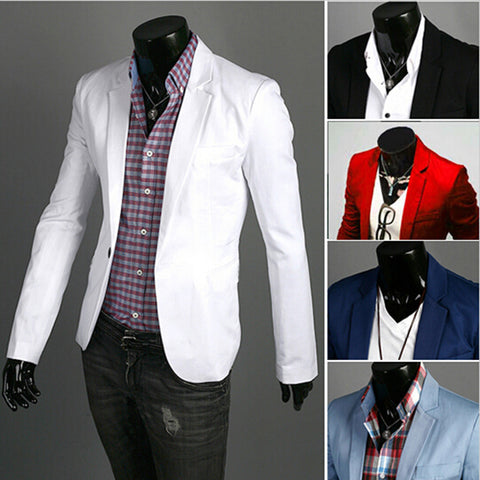 Fashion Wild Single Button Slim Fit Suit
