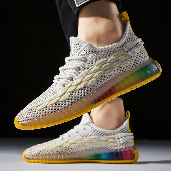 Mens Fashion Flyknit Sports Running Sneakers