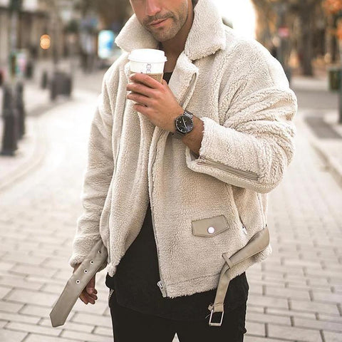 Men's Fashion Lambswool Zipper Coats