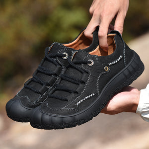 Men Large Size Casual Lace Up Flats Climbing Shoes