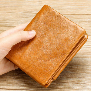 Solid Color RFID Protection Men's Casual Wallet
