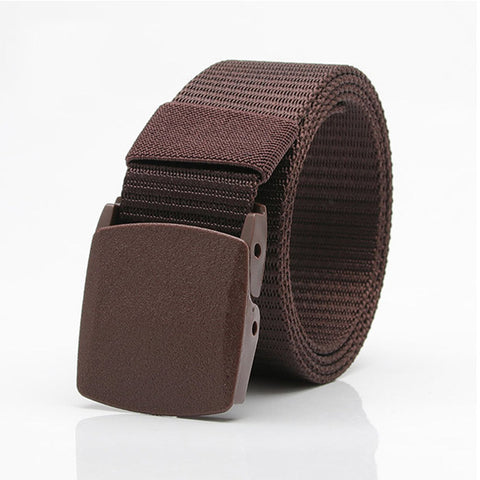 Mens Nylon Belt Military Tactical Durable Buckle Pants Casual Strip