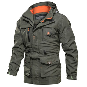 Men's Zipper Stand-up Collar Casual Outdoor Hooded Jacket