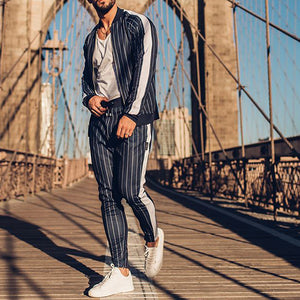 Mens Fashion Casual Autumn And Winter Sports Suits