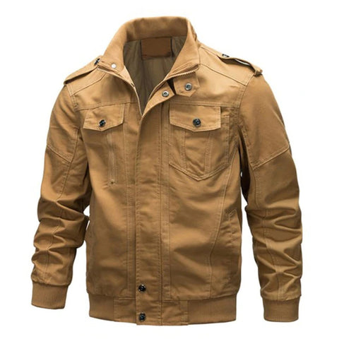 Men's Outdoor Stand Collar Jacket Military Solid Color Jackets
