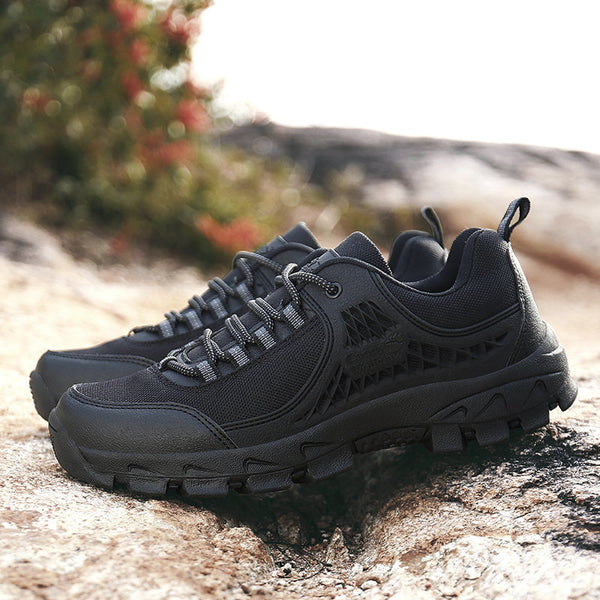 Mens Pure Color Non-Slip Outdoor Casual Hiking Climbing Athletic Shoes