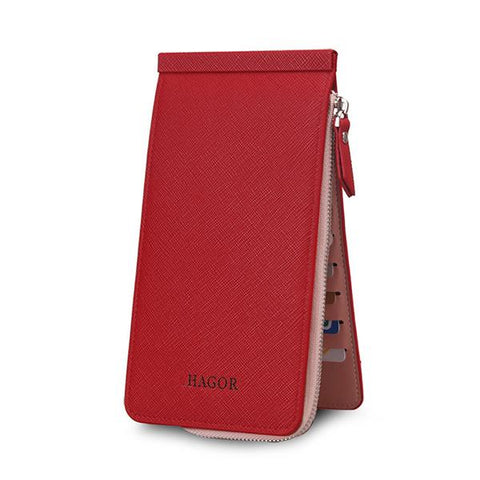 Credit Card Business Pu Long Wallet Card Holder Coins Bag