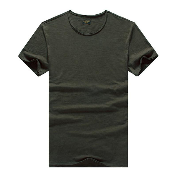 Men's Solid Color Thin T-shirt
