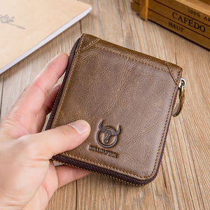 Retro Card Holder Zipper Short Wallets