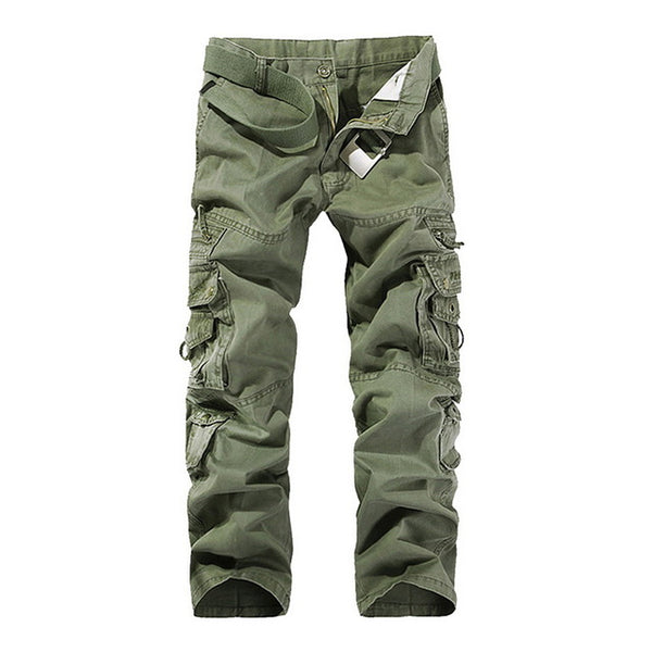 Mens Tactical Pants Casual Multi Pocket Military Style Cargo Pants