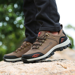 Mens Outdoor Lace Up Casual Comfortable Climbing Shoes