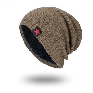 Men Winter Wool Knit Cap Vogue Outdoor Casual Snow Ski Cycling Beanie