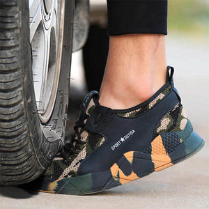 Men Work Safety Shoes Steel Toe Anti-puncture Casual Sneakers