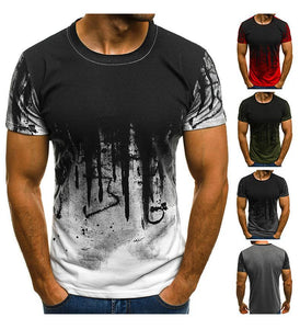 Fashion Digital Printed Short Sleeve T-Shirt
