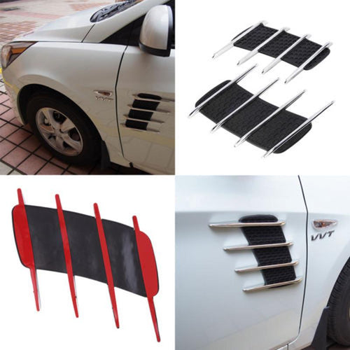 2 PCS General Car Air Simulation Vent Decoration 3D Stickers Car Modified Air Intake