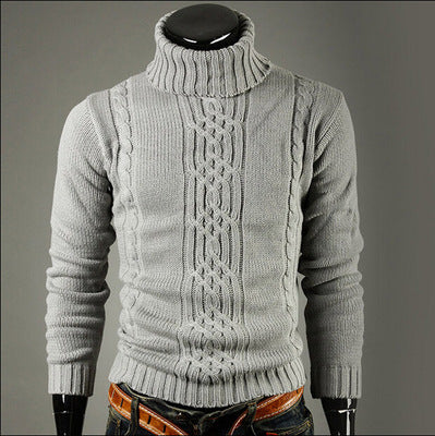 Mens Winter Long Sleeve Turtleneck Sweater