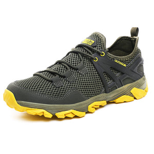 Mens Mesh Non Slip Lace Up Casual Sneakers Outdoor Shoes