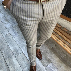 Men's Stripe Slim Fit Casual Fashion Pants
