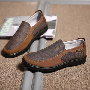 Men's Casual Lightweight Comfy Slip On Flat Shoes