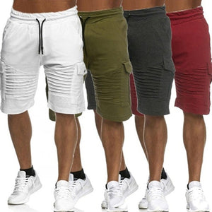Mens Casual Elastic Waist Drawstring Shorts Fashion Jogging Short Pants