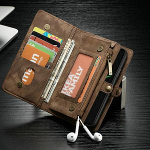 CaseMe Two-in-one Wallet Vintage Phone Case For iPhone