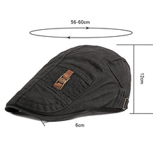 Load image into Gallery viewer, Men Casual Solid Sunshade Hat Retro Painter Beret Cap