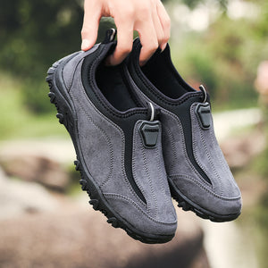 Mens Large Size Slip-on Comfortable Hiking Shoes