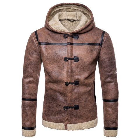 Men's Hooded Vintage Long Sleeve Jackets