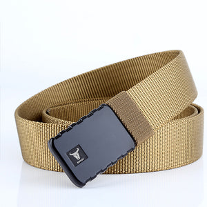 Men Casual Outdoor Canvas Buckle Pants Belt
