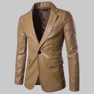 Men's Pure Color Slim High Quality Single Breasted Suit